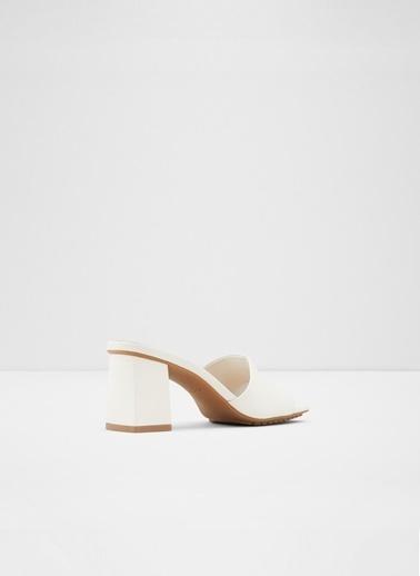 Aldo Velalith - Beyaz Topuklu Terlik Beyaz